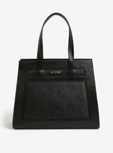 Čierna kožená kabelka ELEGA Isabela