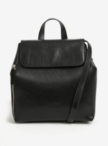 Čierny dámsky kožený batoh ELEGA Shirah