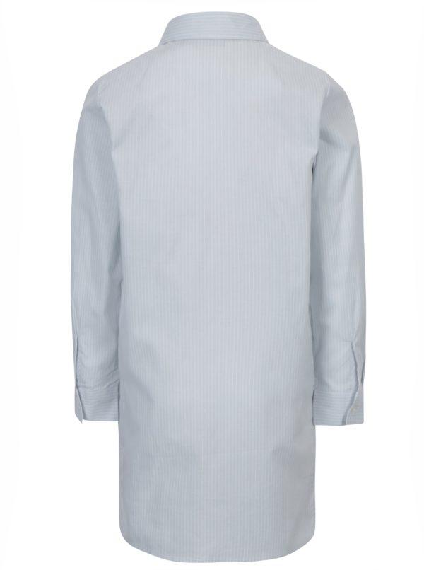 Svetlomodrá dievčenská pruhovaná košeľa s výšivkou name it Keeny