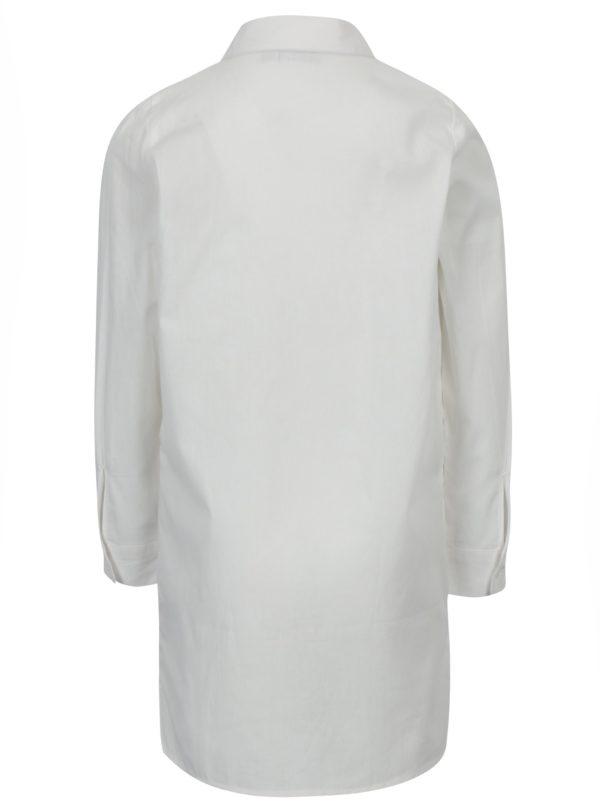 Krémová dievčenská košeľa s výšivkou name it Keeny