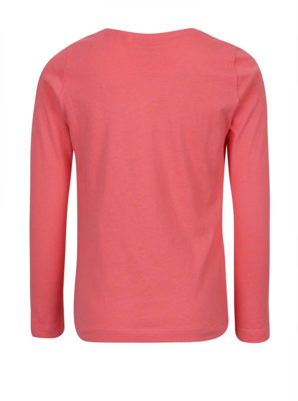 5ee072120e72 Ružové dievčenské tričko s potlačou a dlhým rukávom name it Veen ...