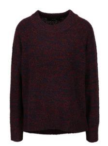 Modro-vínový melírovaný sveter VERO MODA Lone