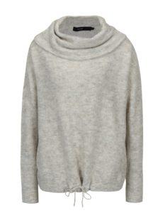 Krémový melírovaný sveter s prímesou vlny VERO MODA Helen