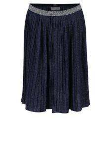 Tmavomodrá dievčenská trblietavá plisovaná sukňa 5.10.15.