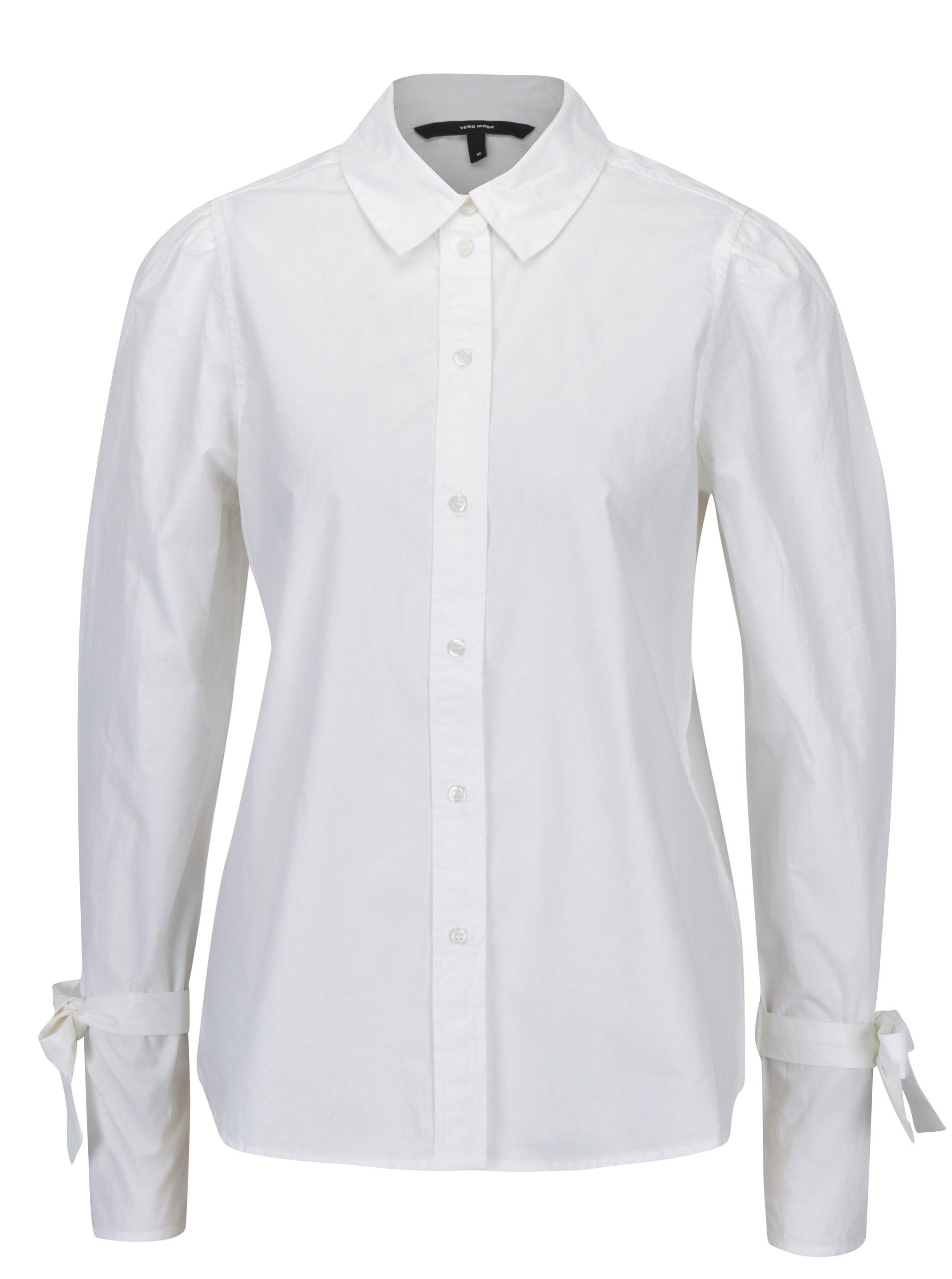 8c8d9318be54 Biela košeľa so zaväzovaním na rukávoch VERO MODA Juljane