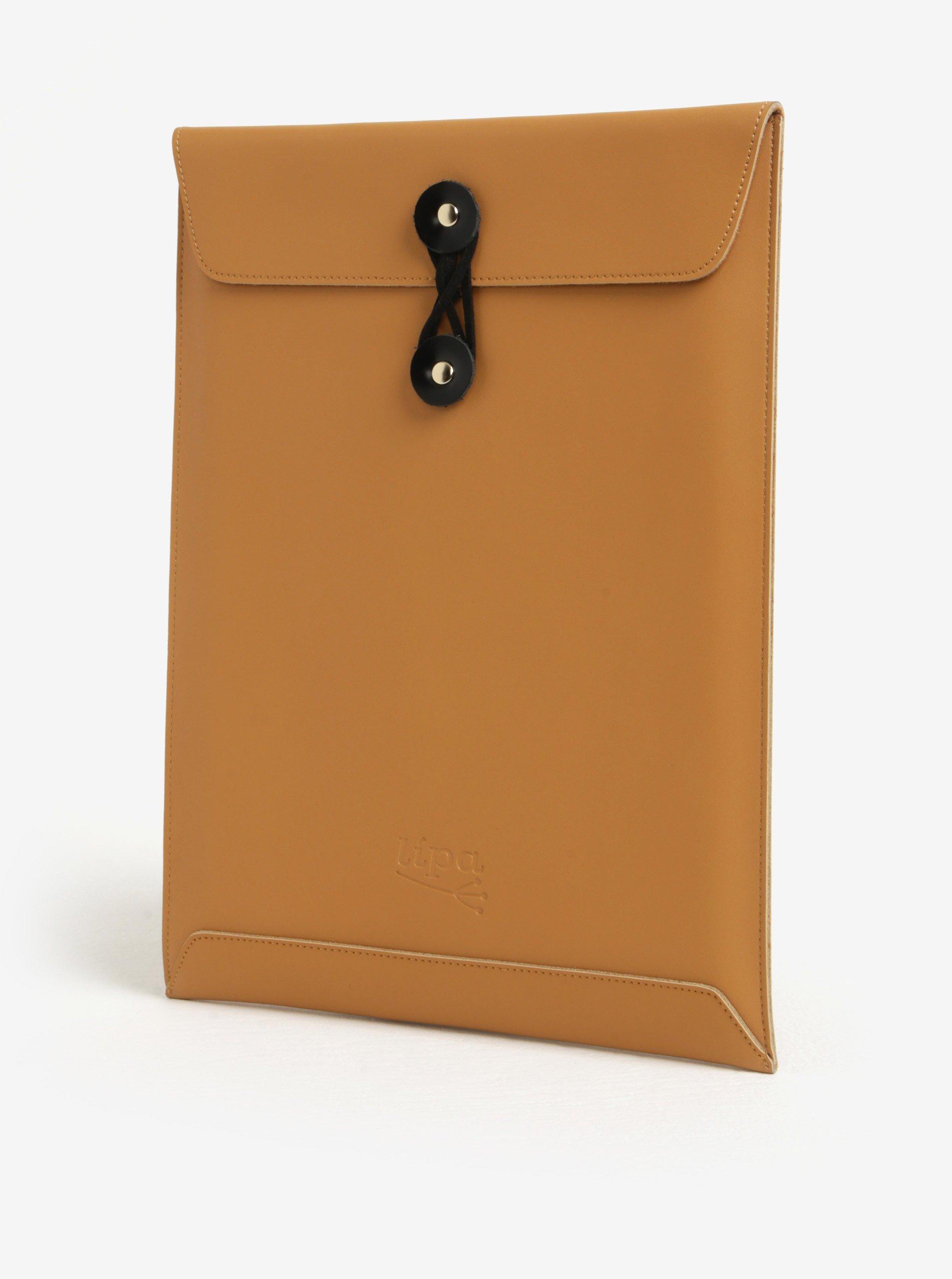 82768580da Čierno-hnedý kožený obal na notebook Lípa 11″