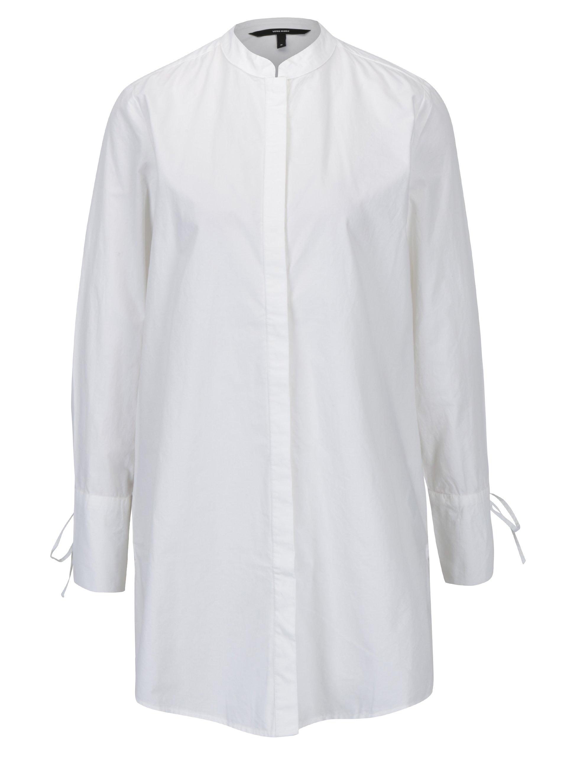 0b2160239a6c Biela dlhá košeľa VERO MODA Juljane