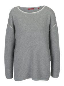 Sivý dámsky pruhovaný tenký sveter s.Oliver