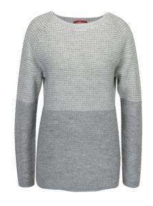 Krémovo-sivý dámsky melírovaný sveter s.Oliver