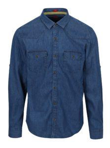 Modrá pánska rifľová slim fit košeľa s.Oliver