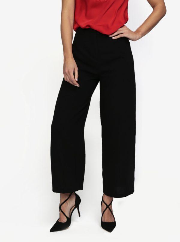 Čierne culottes nohavice s vysokým pásom MISSGUIDED