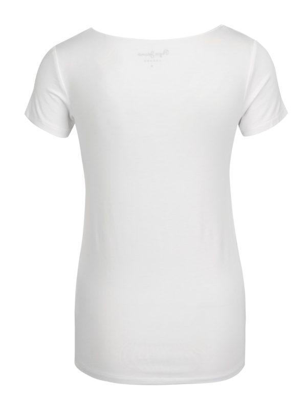 Biele dámske tričko s potlačou Pepe Jeans Violeta