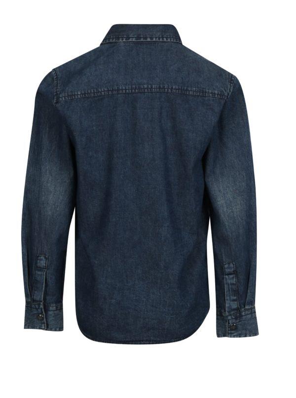 Modrá chlapčenská rifľová košeľa name it Turner