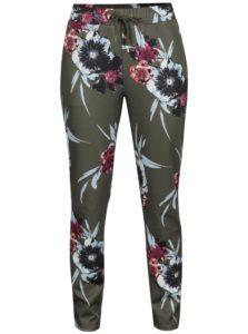 Zelené kvetované nohavice VILA Blouson