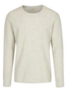 Béžový melírovaný sveter Selected Homme Spot