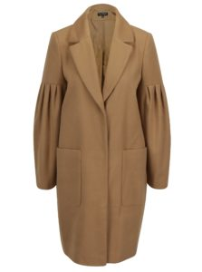 Béžový kabát s vreckami Miss Selfridge