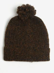 Hnedá melírovaná čiapka Burton Menswear London