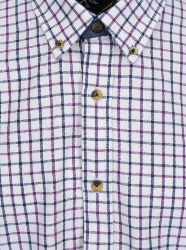 Krémová kockovaná košeľa Raging Bull