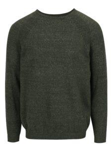 Kaki melírovaný sveter Burton Menswear London