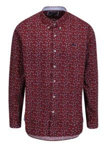 Vínová kvetovaná košeľa Raging Bull