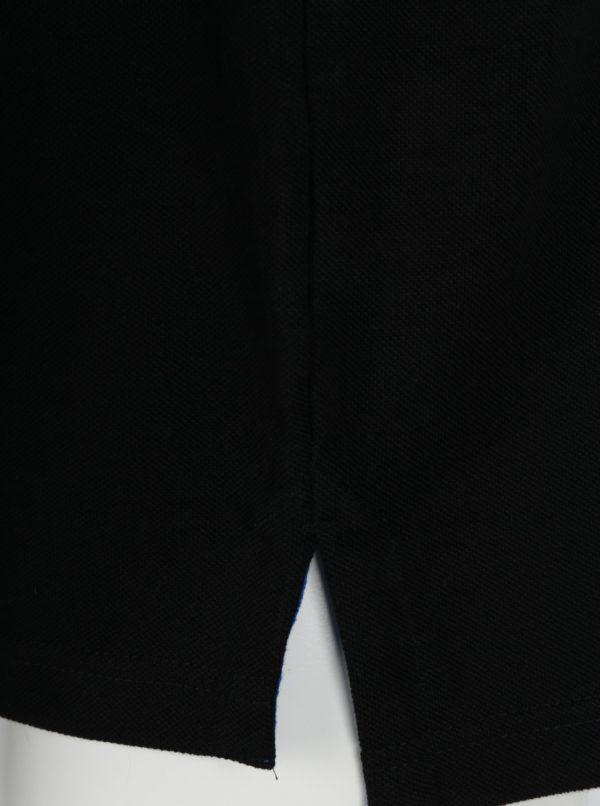 Čierna polokošeľa s výšivkou loga Raging Bull