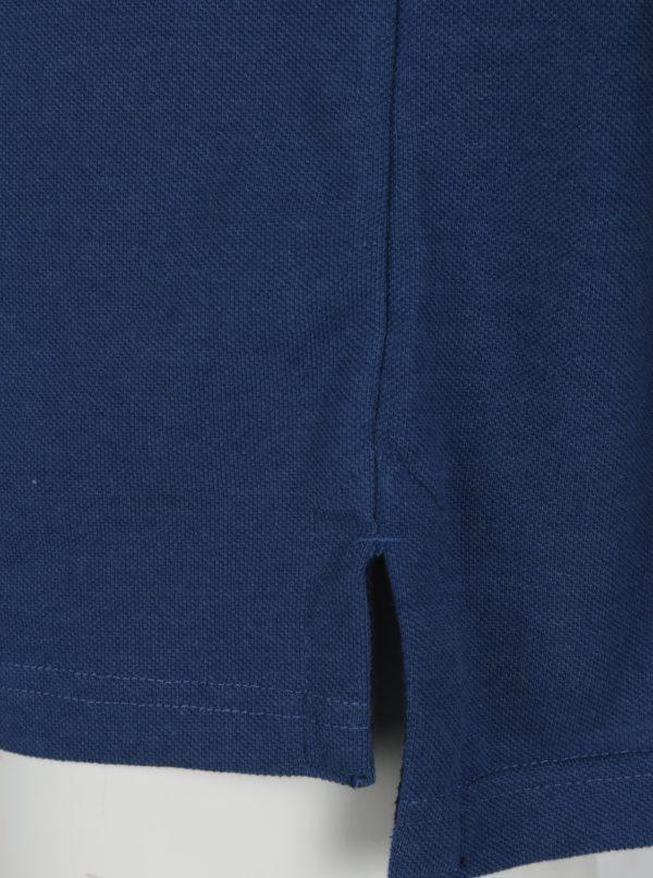 Modrá polokošeľa s výšivkou loga Raging Bull