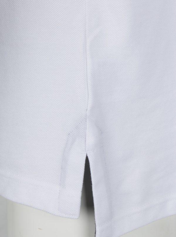 Biela polokošeľa s výšivkou loga Raging Bull