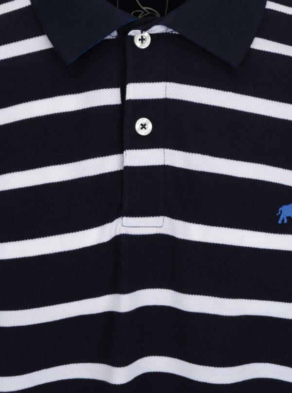 Bielo-modrá pruhovaná polokošeľa Raging Bull
