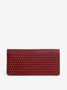 Červená dámska kožená vzorovaná peňaženka ELEGA Amina