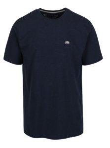 Tmavomodré tričko s výšivkou loga Raging Bull