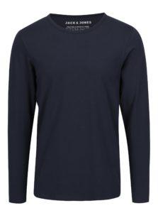 Tmavomodré tričko s dlhým rukávom Jack & Jones Basic