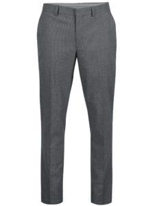 Sivé vzorované nohavice Selected Homme Slim