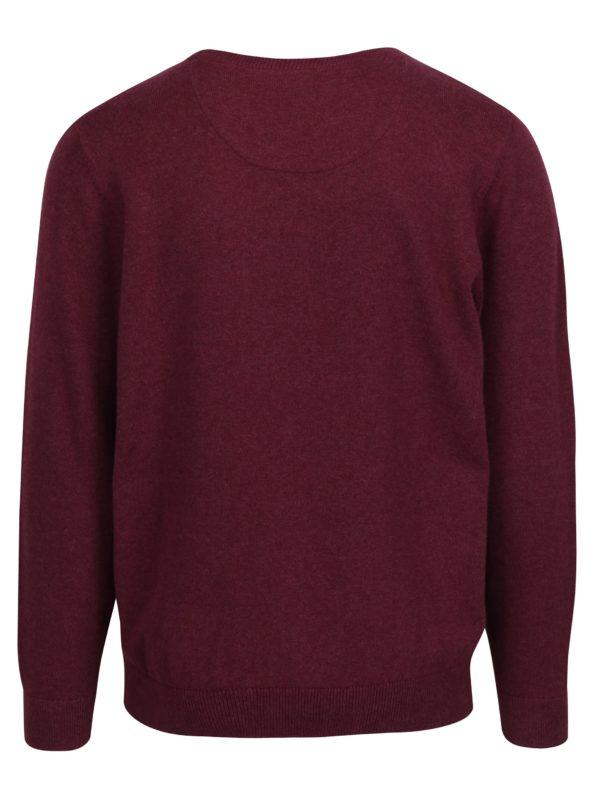 Vínový sveter s okrúhlym výstrihom Raging Bull