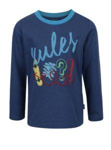 Modré chlapčenské tričko s dlhým rukávom a potlačou Venere