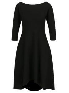Čierne áčkové šaty s 3/4 rukávmi miestni Bla