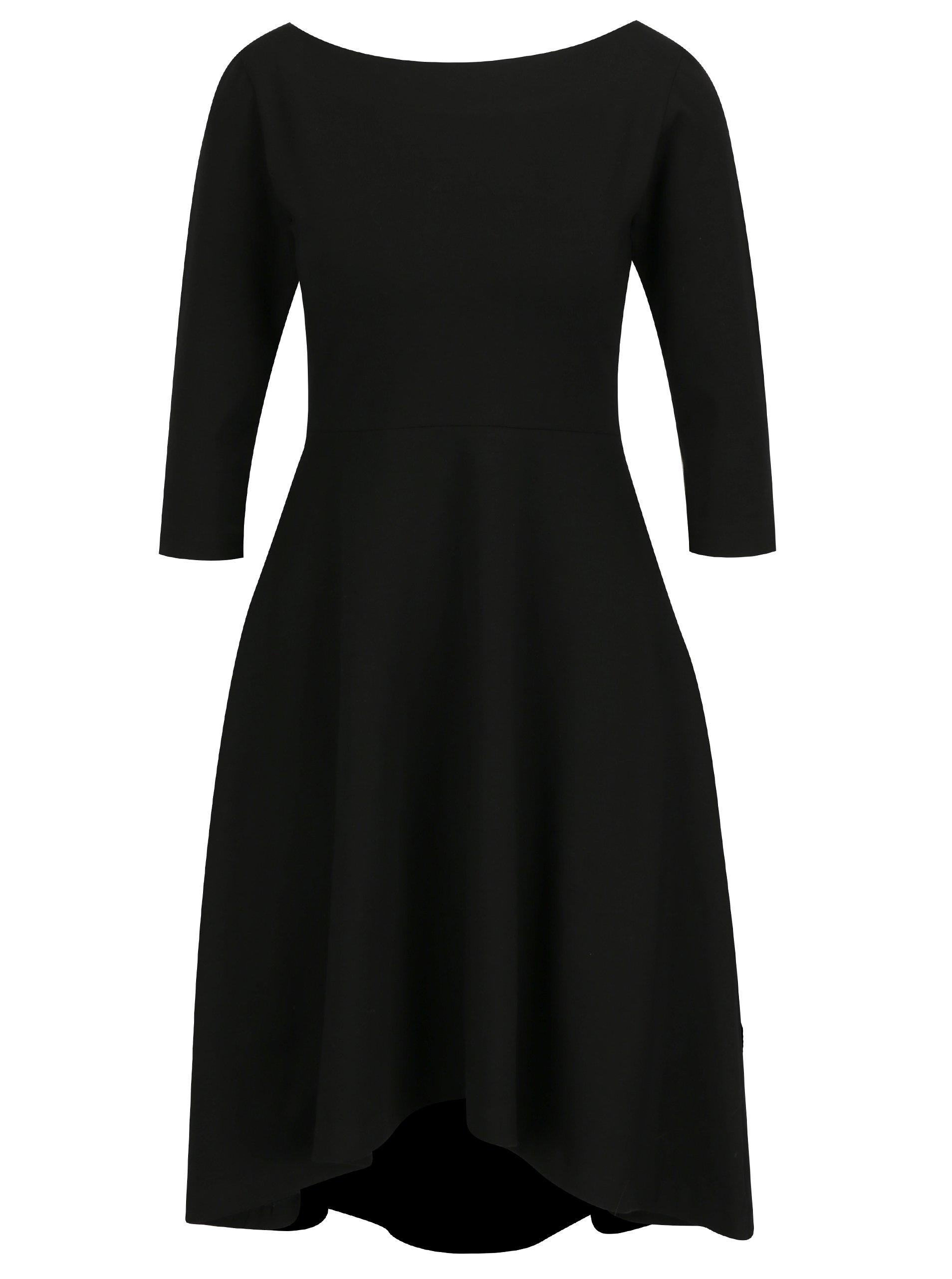 5faeae37daa4 Čierne áčkové šaty s 3 4 rukávmi miestni Bla