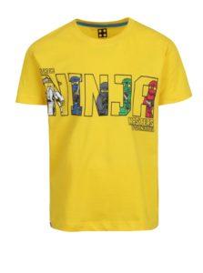 Žlté chlapčenské tričko s krátkym rukávom a potlačou Lego Wear
