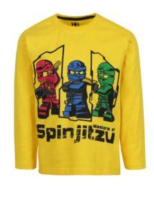 Žlté chlapčenské tričko s potlačou a dlhým rukávom Lego Wear