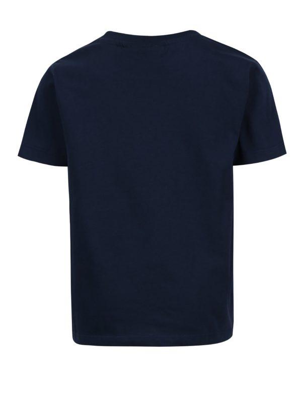 Tmavomodré chlapčenské tričko s potlačou a krátkym rukávom Lego Wear