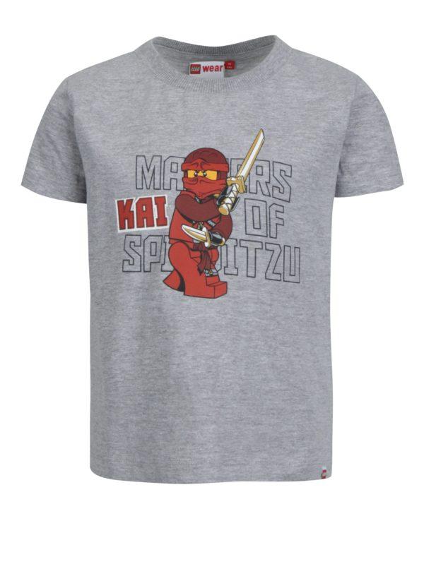 Sivé chlapčenské tričko s krátkym rukávom Lego Wear Thomas
