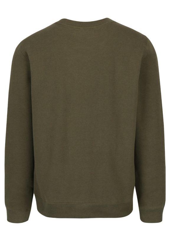 Kaki pánska mikina s výšivkou Calvin Klein Jeans Hyperon