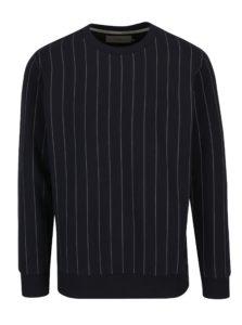 Tmavomodrá pánska pruhovaná mikina Calvin Klein Jeans Hespero