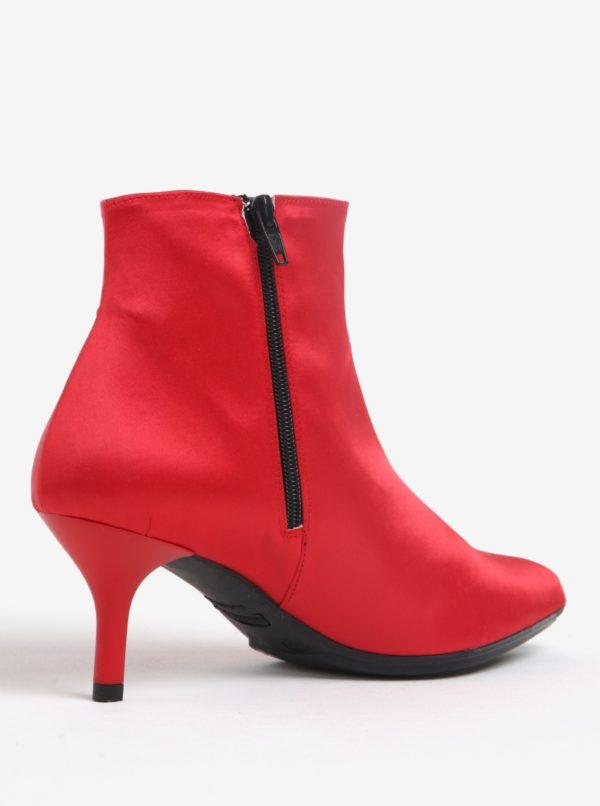 Červené členkové topánky na podpätku OJJU