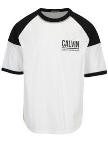Čierno-biele pánske tričko Calvin Klein Jeans Tiboro