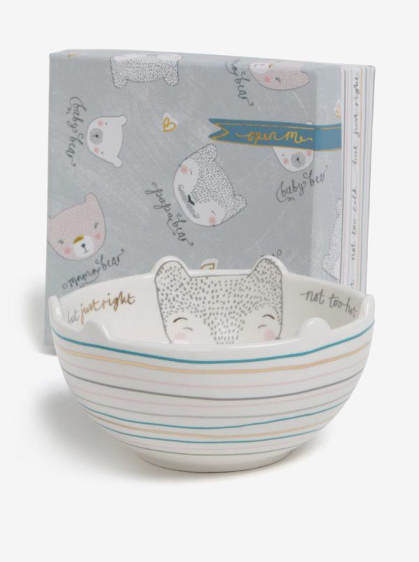 Krémová miska s motívmi medvedíkov v darčekovej krabičke Disaster