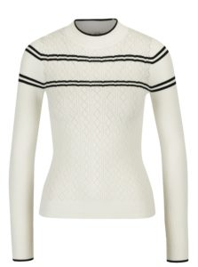 Krémový vzorovaný sveter Miss Selfridge