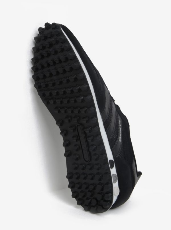 Čierne pánske tenisky so štruktúrovanou podrážkou adidas Originals La Trainer OG