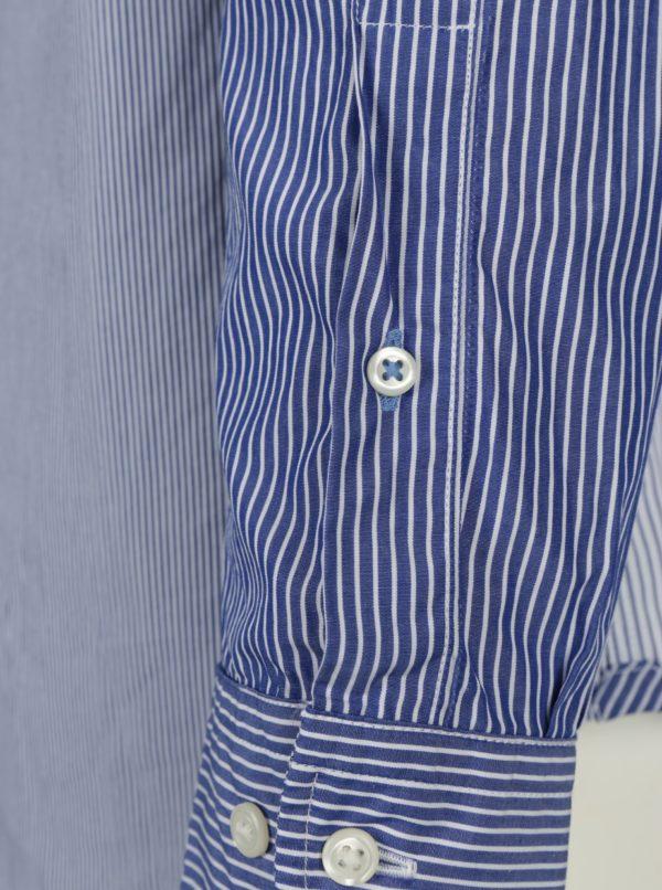 8d4ece88b7 Bielo-modrá pánska pruhovaná regular fit košeľa Tommy Hilfiger Mixed ...