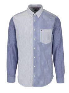 Bielo-modrá pánska pruhovaná regular fit košeľa Tommy Hilfiger Mixed