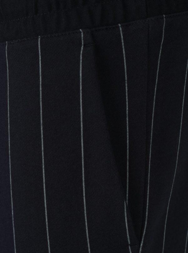 Tmavomodré pánske pruhované tepláky Calvin Klein Jeans Hespero